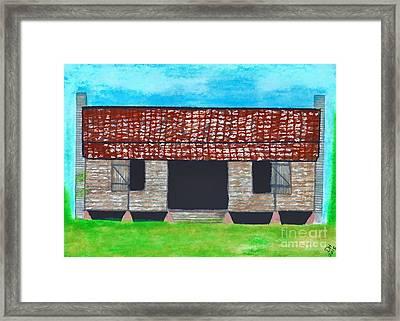 Dogtrot Cracker Home  Framed Print by D Hackett