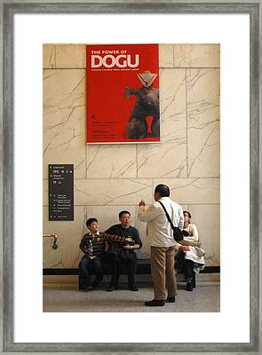 Dogu Up Framed Print by Jez C Self
