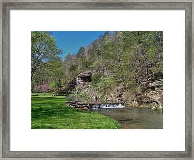 Dogwood Canyon Cliffs Framed Print by Julie Grace
