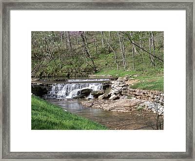 Dogwood Canyon Waterfall 2 Framed Print by Julie Grace