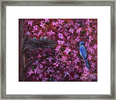 Framed Print featuring the painting Dogwood Haven by Kristi Roberts