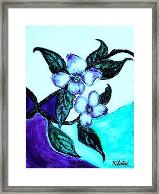Dogwood Purple Framed Print by Marsha Heiken
