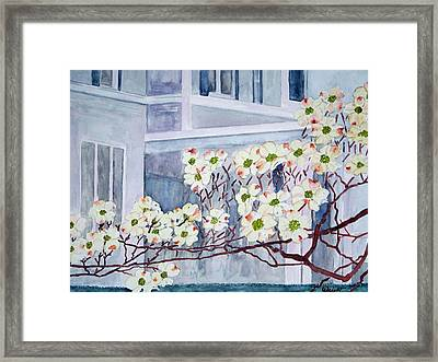 Dogwood Time In Oldtown Framed Print by Larry Wright