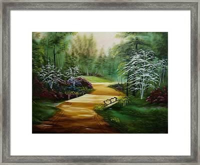 Dogwoods In Springtime Framed Print