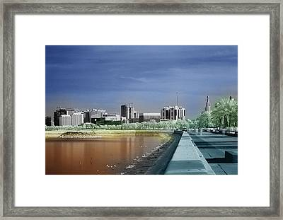 Doha Corniche In Infra-red Framed Print by Paul Cowan