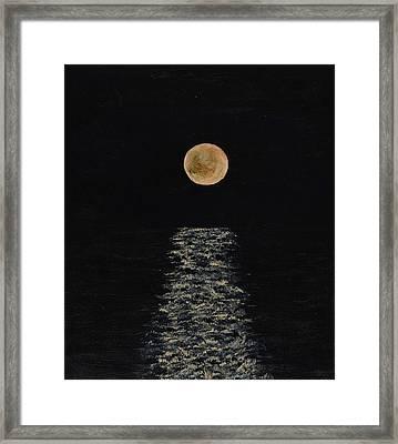 Doha Moonrise Framed Print