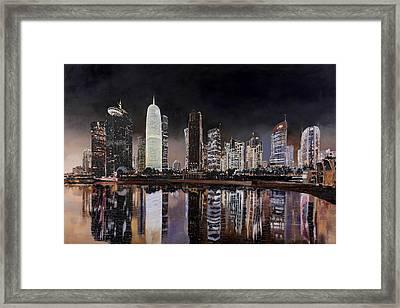 Doha Qatar Framed Print by Guido Borelli