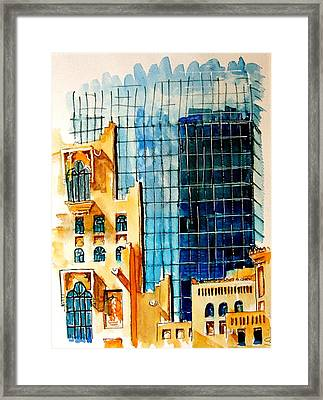 Doha Reflections Framed Print by Mike Shepley DA Edin
