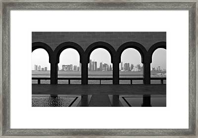 Doha Skyline From Museum Framed Print by Gregory T. Smith