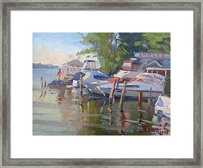 Docks At The Shores  Framed Print