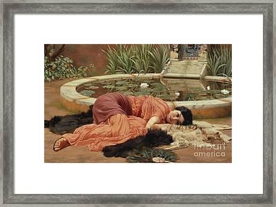 Dolce Far Niente Framed Print by John William Godward