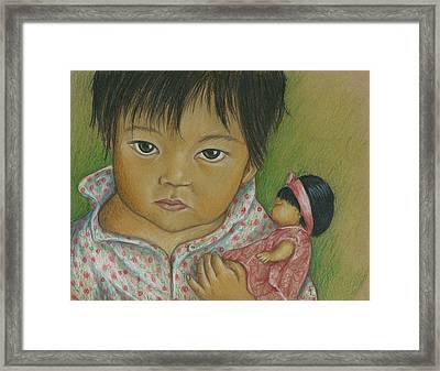 Doll Love Framed Print