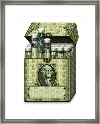 Dollar Cigarettes Framed Print