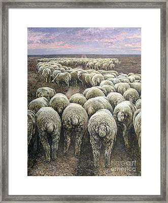 Dollar Or Philosophy Of The Crowd In Pursuit Of Profit Framed Print
