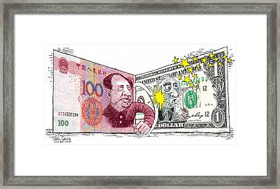 Dollar Vs Yen Framed Print