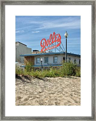 Framed Print featuring the photograph Dolles From The Beach - Rehoboth Beach Delaware by Brendan Reals