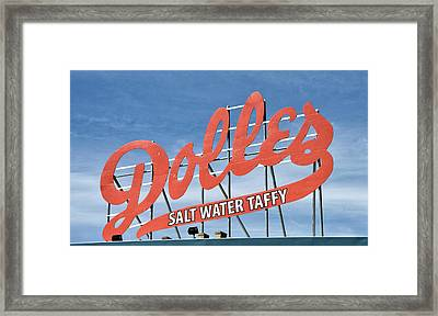 Framed Print featuring the photograph Dolles Salt Water Taffy - Rehoboth Beach  Delaware by Brendan Reals