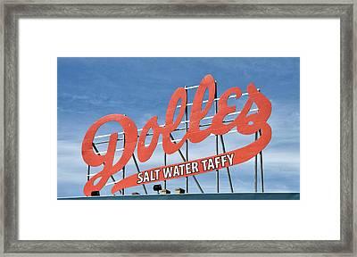 Dolles Salt Water Taffy - Rehoboth Beach  Delaware Framed Print by Brendan Reals