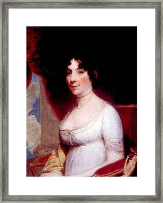 Dolley Madison 1768-1849, First Lady Framed Print