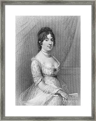 Dolley Madison (1768-1849) Framed Print