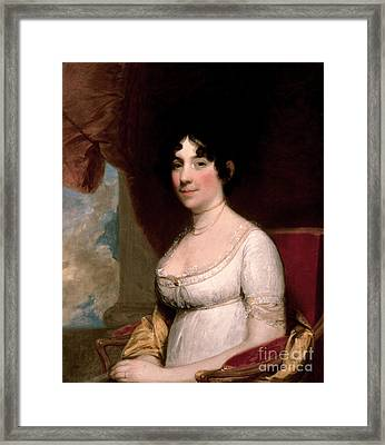 Dolley Madison, First Lady Framed Print