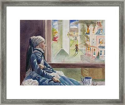 Dollhouse Dream Framed Print