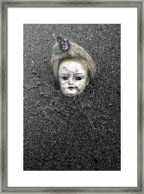 Doll's Head Framed Print by Joana Kruse