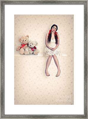 Dolly And Her Teddies Framed Print