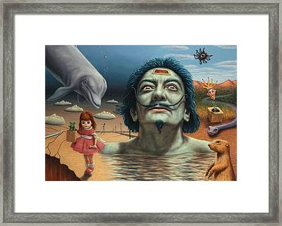 Dolly In Dali-land Framed Print