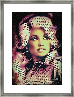 Dolly Parton - Digital Art Painting Framed Print