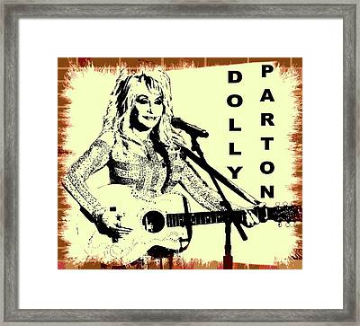 Dolly Parton Graffiti Poster Framed Print by Dan Sproul