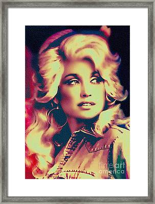Dolly Parton - Vintage Painting Framed Print