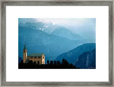 Dolomite Church Framed Print by Joe Bonita