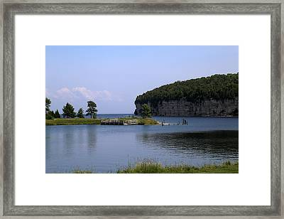 Dolomite Cliffs Fayette State Park Framed Print by Mary Bedy