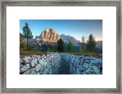 Dolomite Dawn Framed Print by Brian Jannsen