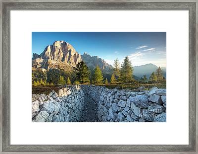 Dolomite Morning Framed Print by Brian Jannsen