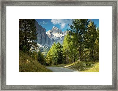 Dolomite Pathway Framed Print by Brian Jannsen