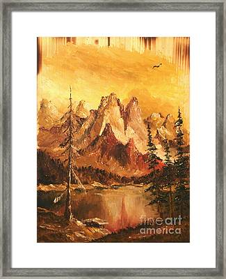Framed Print featuring the painting Dolomiti by Sorin Apostolescu