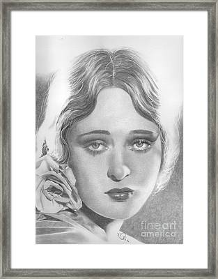 Dolores Costello Framed Print by Karen  Townsend