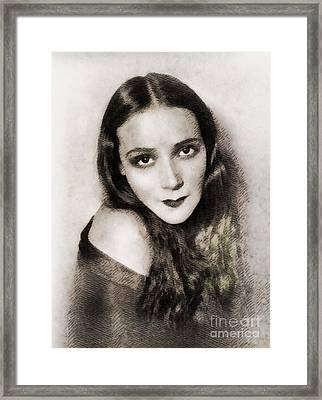 Dolores Del Rio, Vintage Actress Framed Print by John Springfield