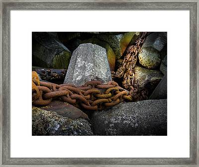 Dolosse And Chains Framed Print by TL Mair