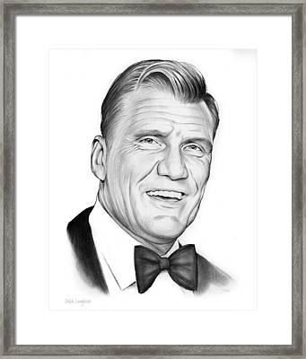 Dolph Lundgren Framed Print by Greg Joens