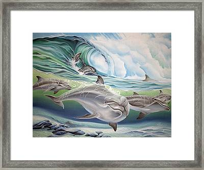 Dolphin 2 Framed Print by William Love