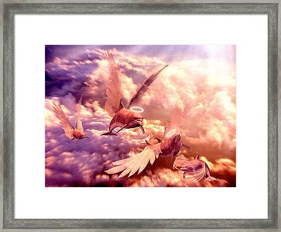 Dolphin Angels Framed Print by Robby Donaghey
