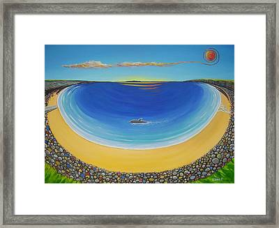 Dolphin At Whitestrand Framed Print by Eamon Doyle