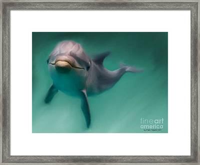 Dolphin  Framed Print by Crispin  Delgado