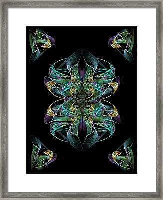 Dolphin Dance Flower Framed Print by Ricky Kendall