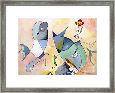 Dolphin Garden Framed Print by Carolyn Weir