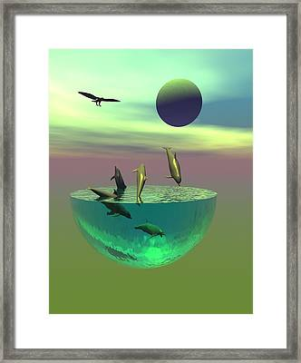 Dolphin Heaven Framed Print by Claude McCoy