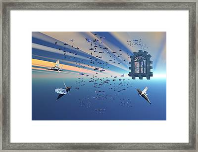 Dolphin Heaven2  Framed Print by Claude McCoy